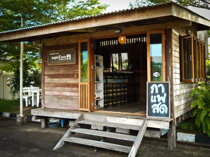 The Espresso coffee Hut between bangkok and Trat