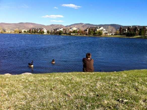 Thomas at Lake April 2016