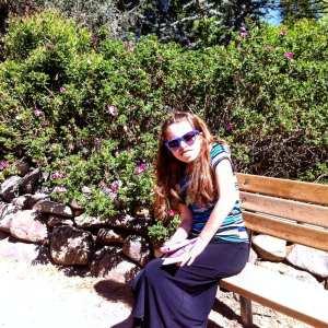 Lillian at Wilbur May Arboretum May 2016 Date Day