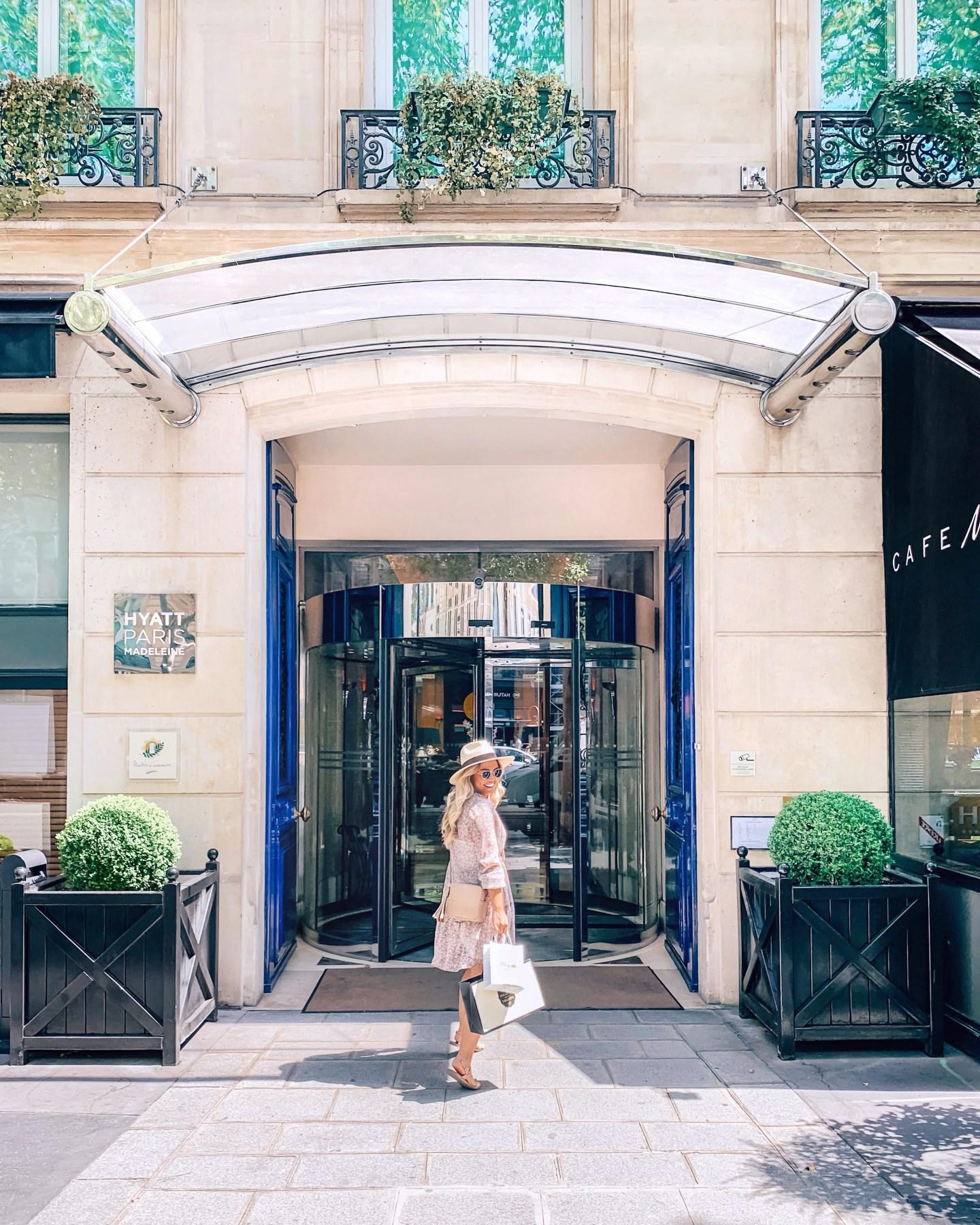 Hyatt Paris Madeleine entrance