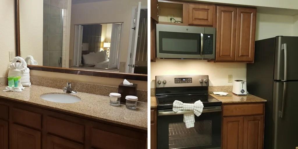salle de bains et cuisine du floridays à orlando