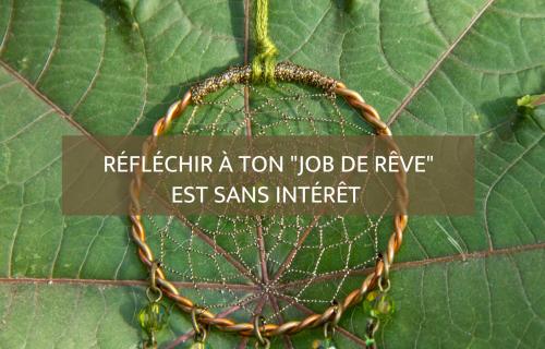 Réfléchir à ton job de rêve est sans intérêt- Blog Camille Gautry - - Optimisation de Carrière et de Recrutement | Expatriation | Retour en France