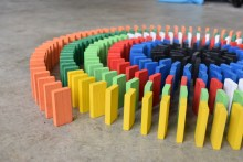 Michael's dominoes that he got as a birthday present