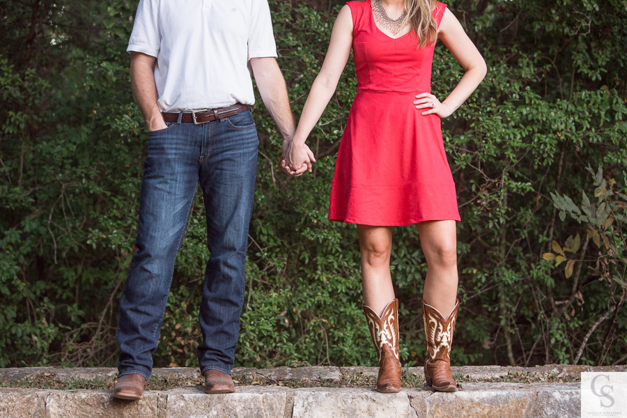 country chic engagement session austin