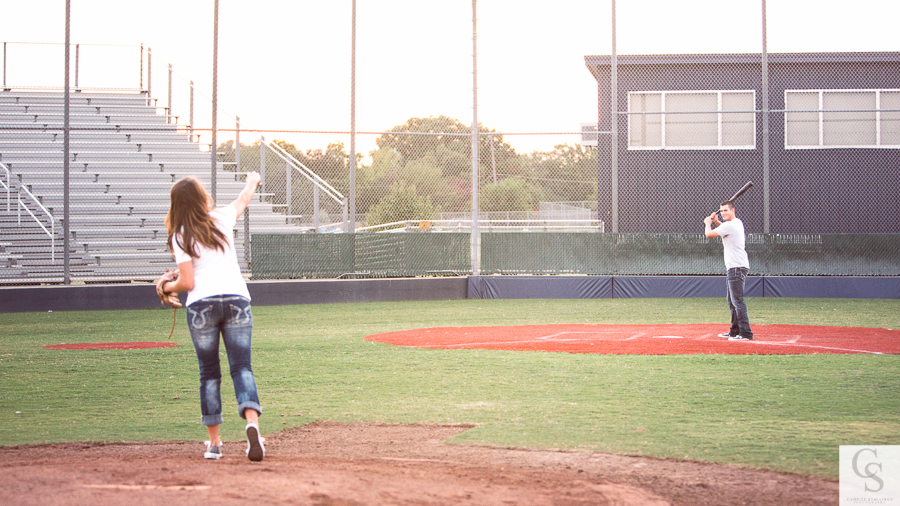 round rock baseball engagement session
