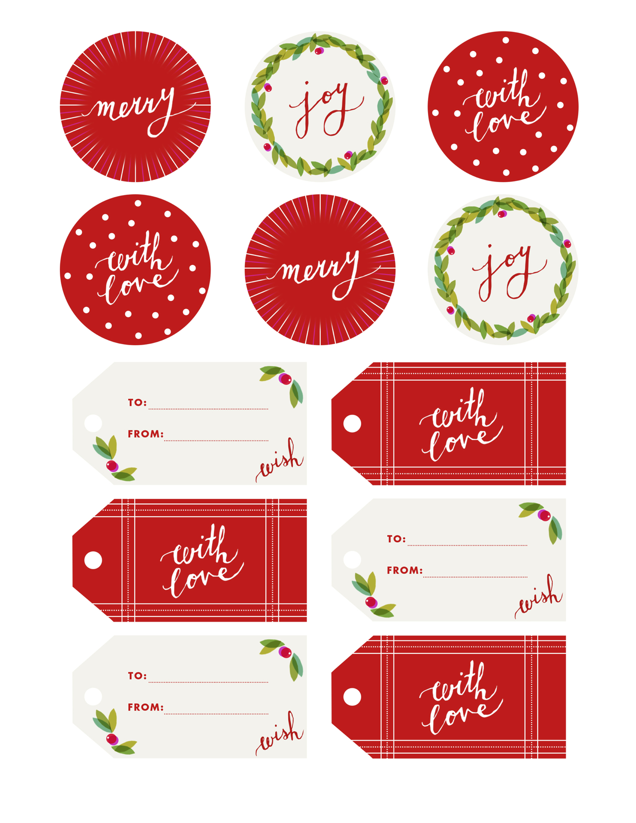 Fine Print Holly Jolly T Tags Camille Styles