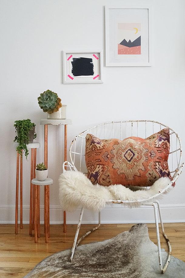 Detalles de cobre para decorar la casa