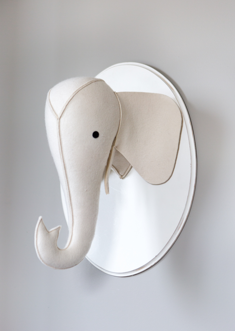felt animal head // modern baby boy's nursery // camille styles
