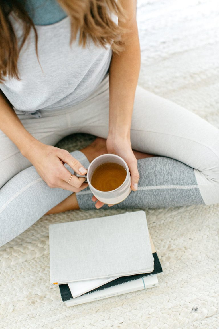 cup of tea and journals