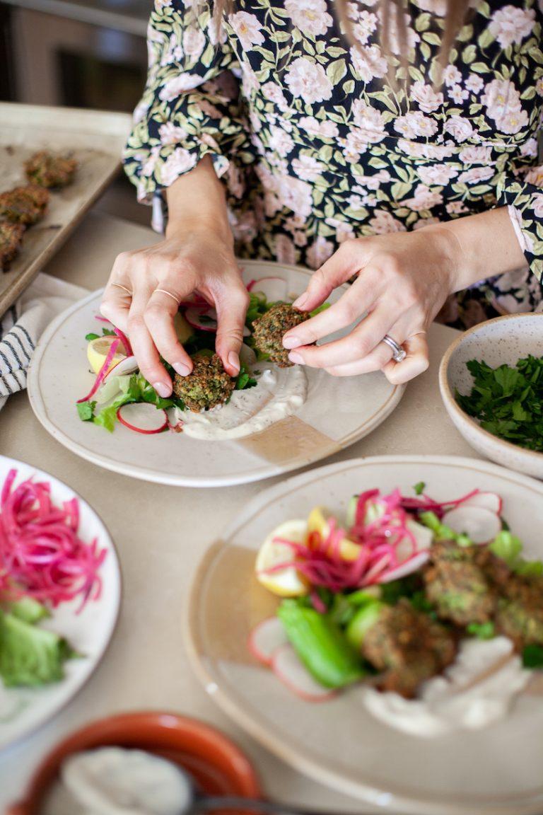 vegetarian chickpea falafel