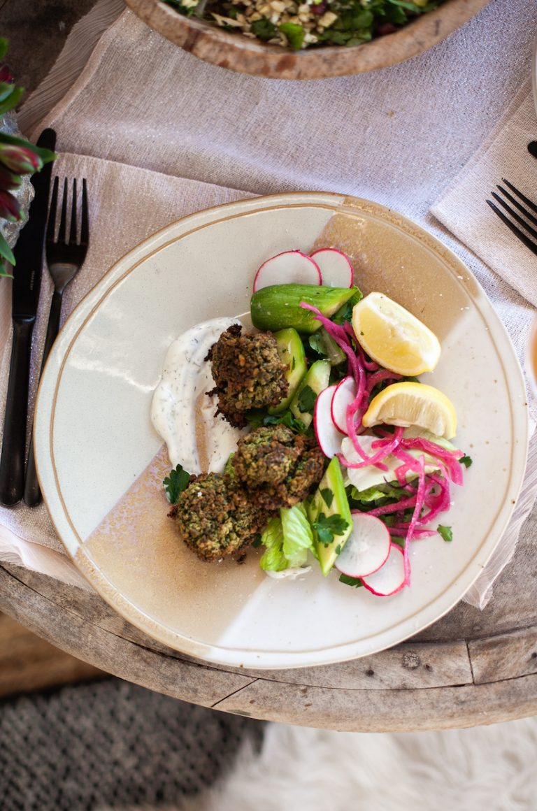 easy green herby falafel recipe is baked, not fried