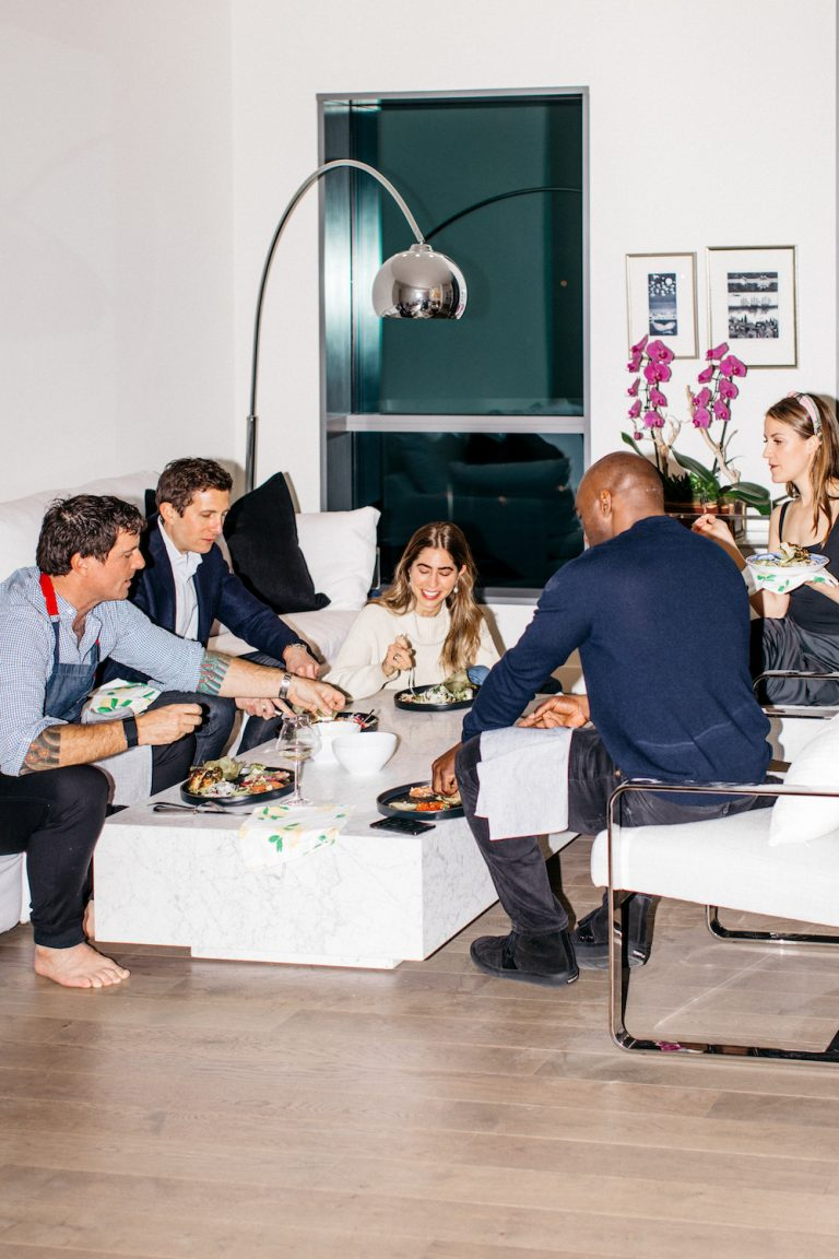 dinner party with friends, laid-back vibes in LA
