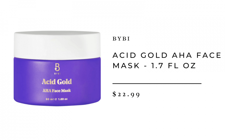 BYBI Acid Gold AHA Face Mask - 1.7 fl oz