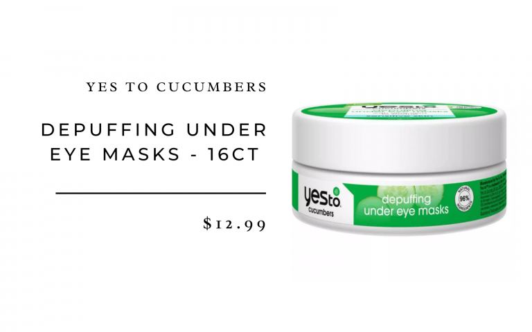 Yes To Cucumbers Depuffing Under Eye Masks - 16ct