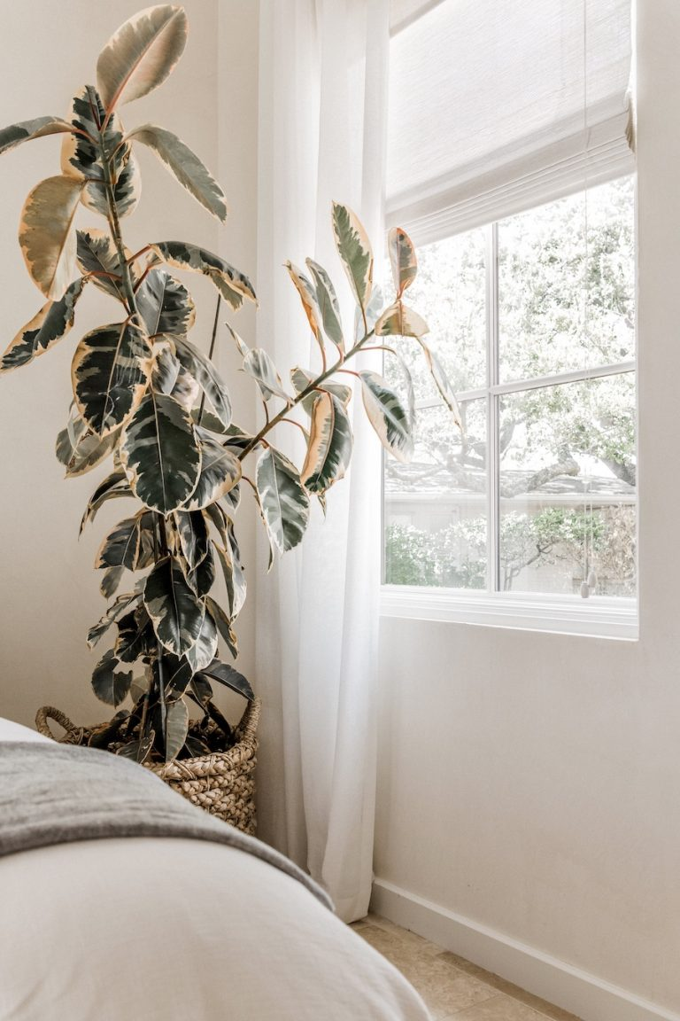 Camille Styles guest room window treatments-window treatment design tips