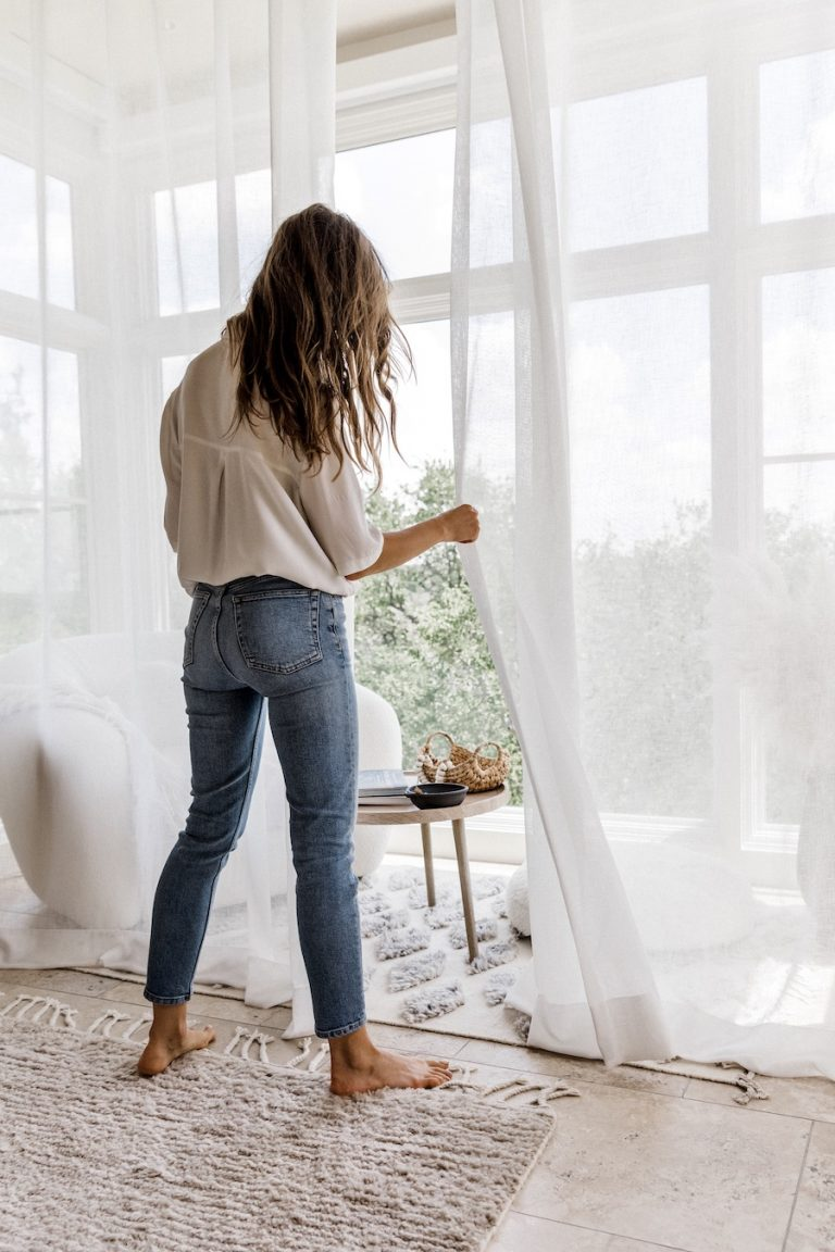 Camille Styles bedroom window treatments-window treatment design tips