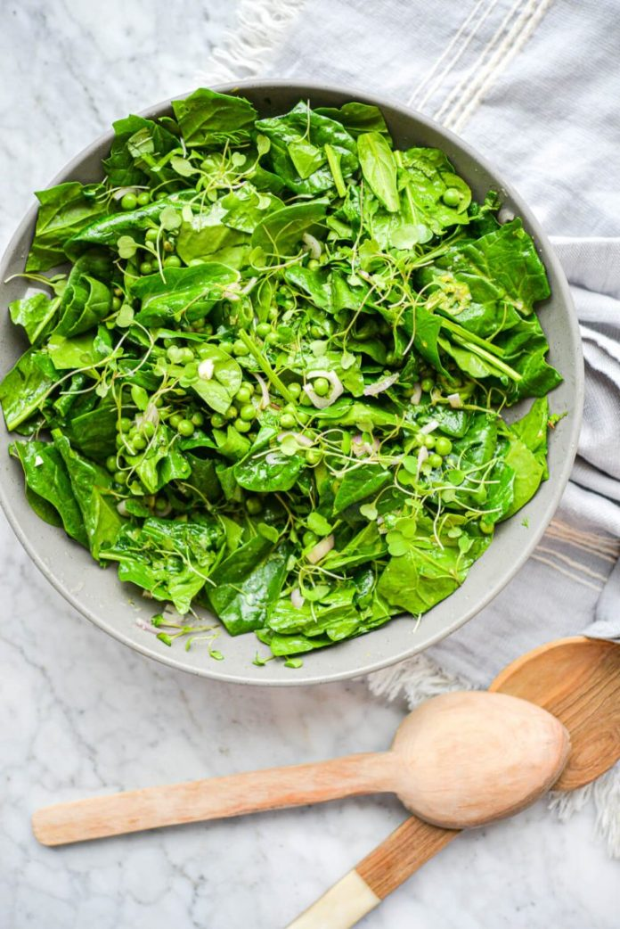 spinach salad -- fed and fit