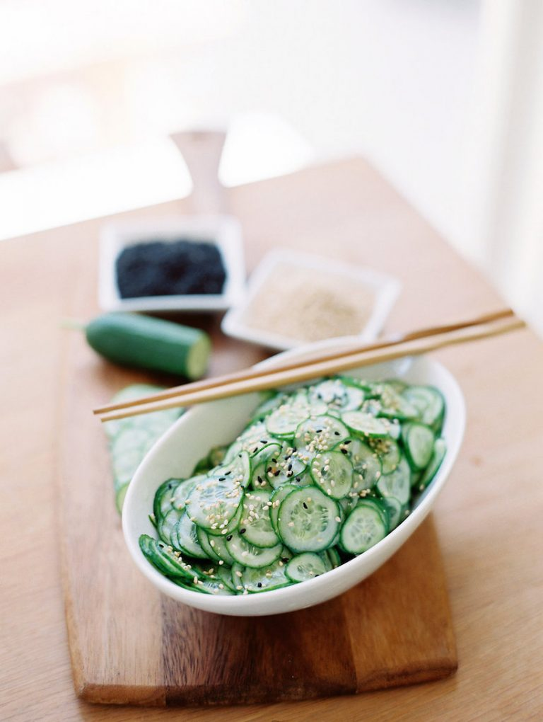 asian cucumber salad from camille styles