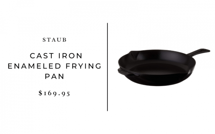 STAUB Cast Iron Enameled Frying Pan, 10-inch