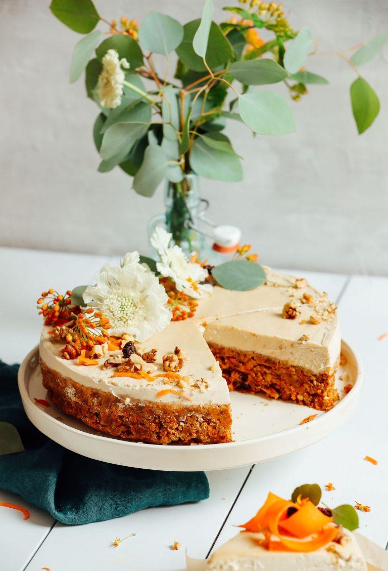 raw vegan carrot cake -- minimalist baker