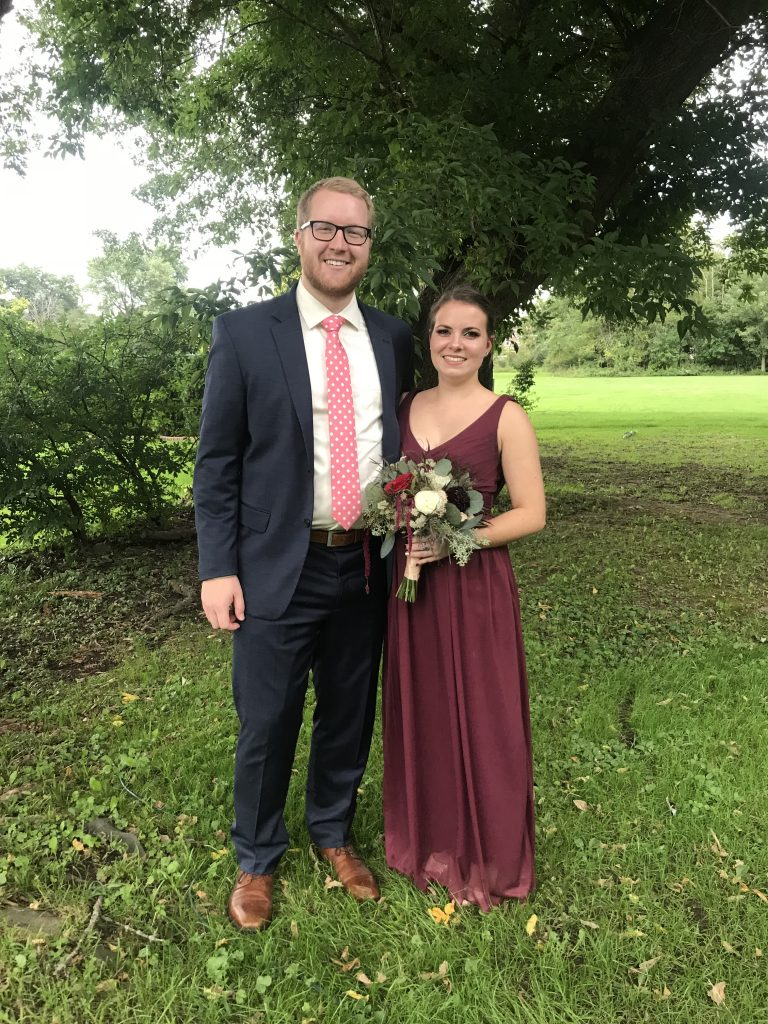 Camille and boyfriend Tylre at a wedding