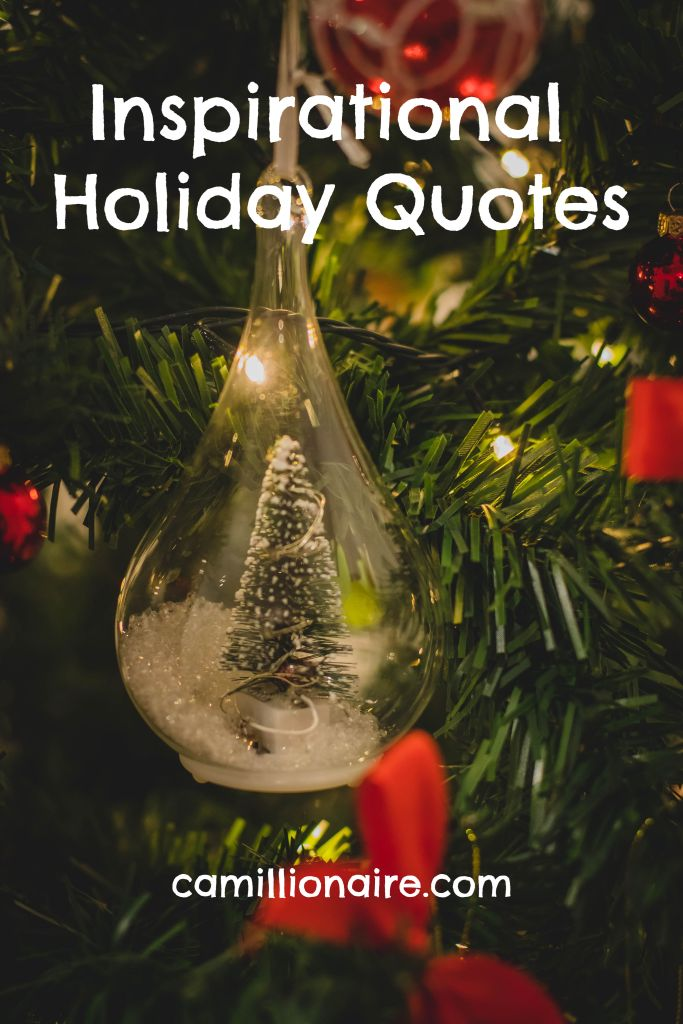 Inspirational holiday quotes