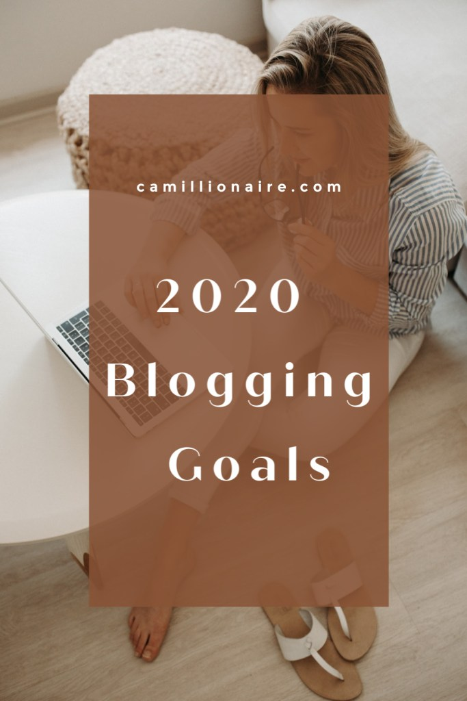 2020 Blogging Goals