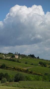 Paysage toscan après Montalcino