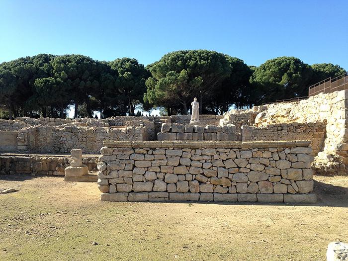 Restos del templo de Asclepio