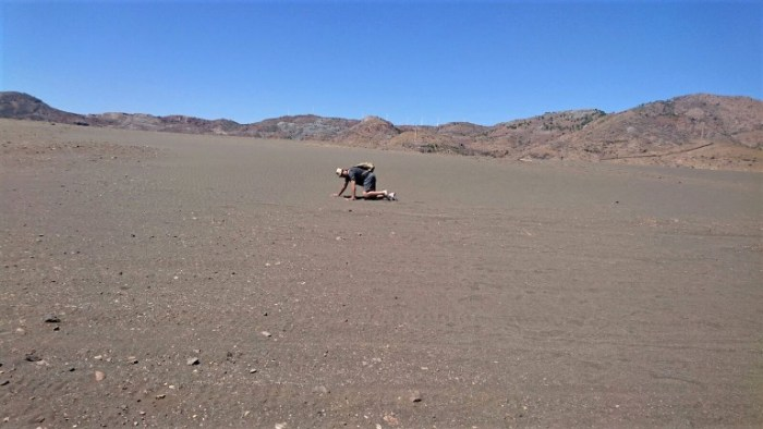 El que suscribe, sobre los vertidos, hoy convertidos en un desierto