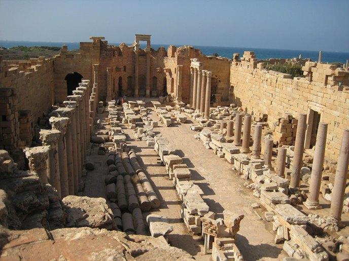 La Basílica de los Severos en Leptis Magna