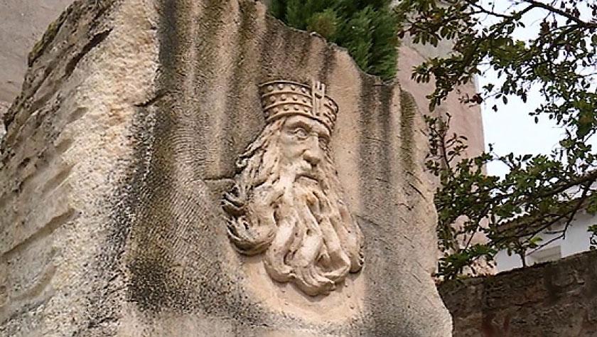 Monolito del rey Wamba en Pampliega