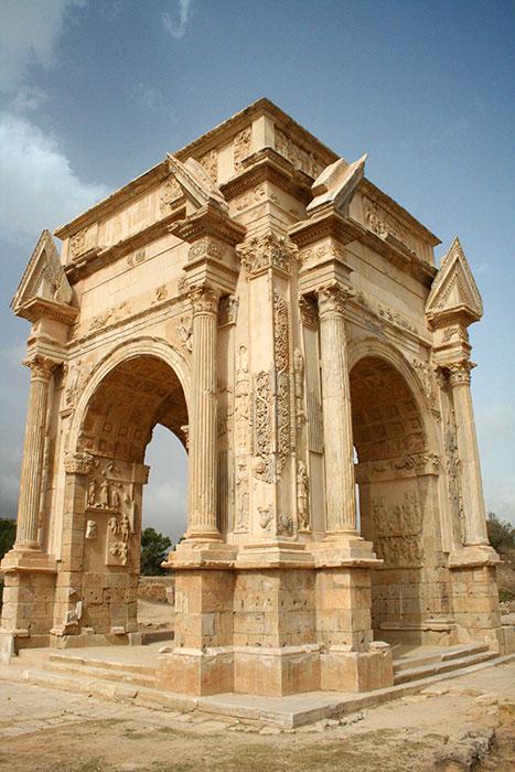 Arco de Septimio Severo en Leptis Magna