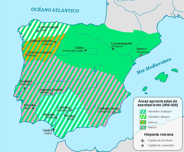 El reparto de la Península entre los pueblos bárbaros