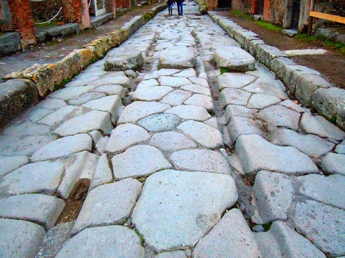 Rodadas de los carros en Pompeya