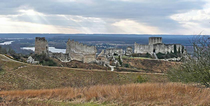 El castillo de Gaillard en la actualidad
