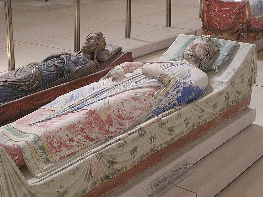Ricardo Corazón de León en la Abadía de Fontevrault