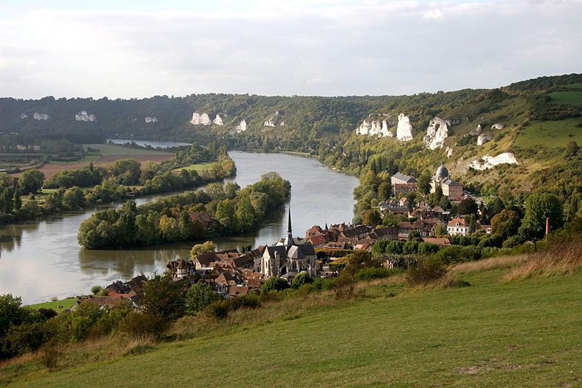 Vistas desde el Castillo de Gaillard