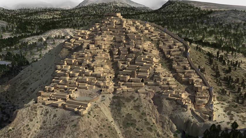 La Bastida de Totana, vista con la recreación del siglo XXI