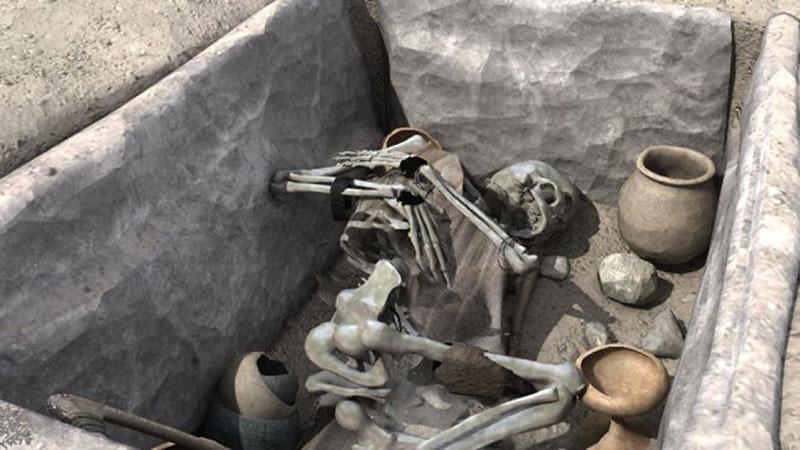 enterramiento argárico en cista