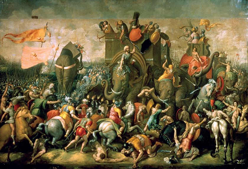 La batalla de Zama (202 a. C.)