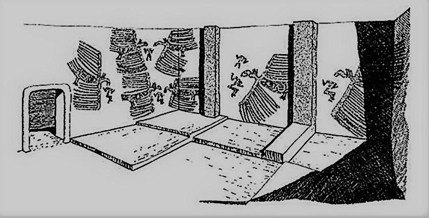 Representación de la escena de Çatalhöyuk