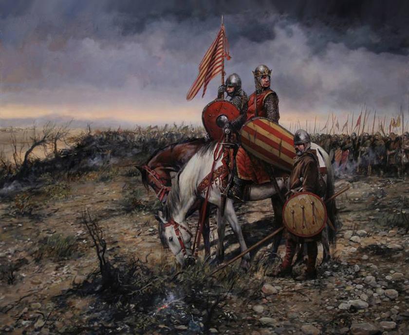 Pedro II de Aragón en la Batalla de Las Navas de Tolosa