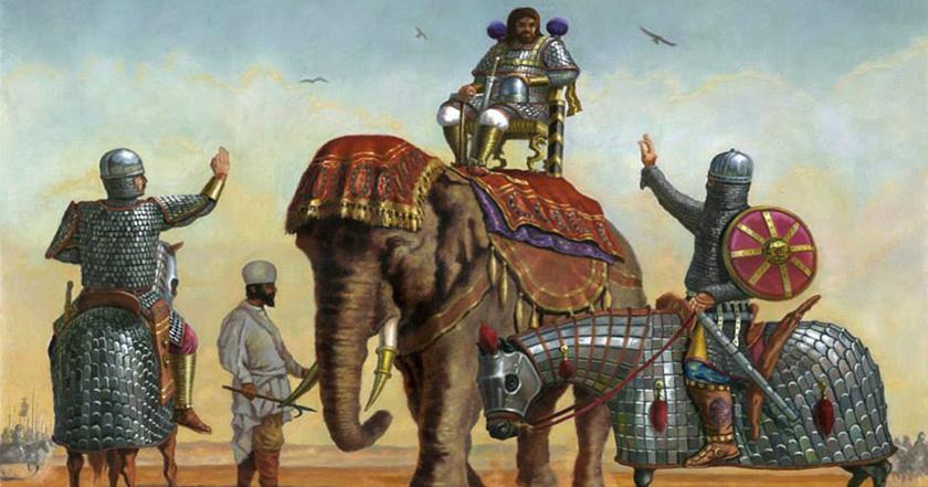 """Los persas sasánidas, los otros """"bárbaros"""" que hicieron frente a Roma."""