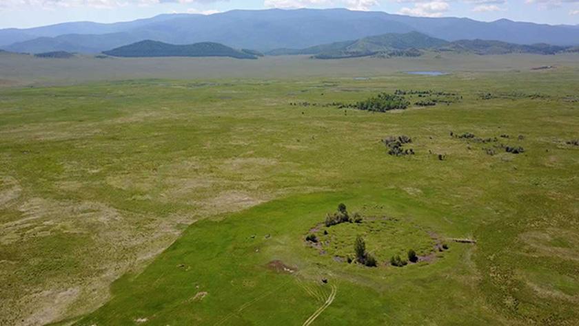 Zona arqueológica de los kurganes.