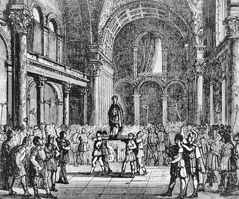 Proclamación Imperial de Juliano en Cluny