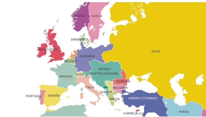 Europa en 1914 antes de la Gran Guerra
