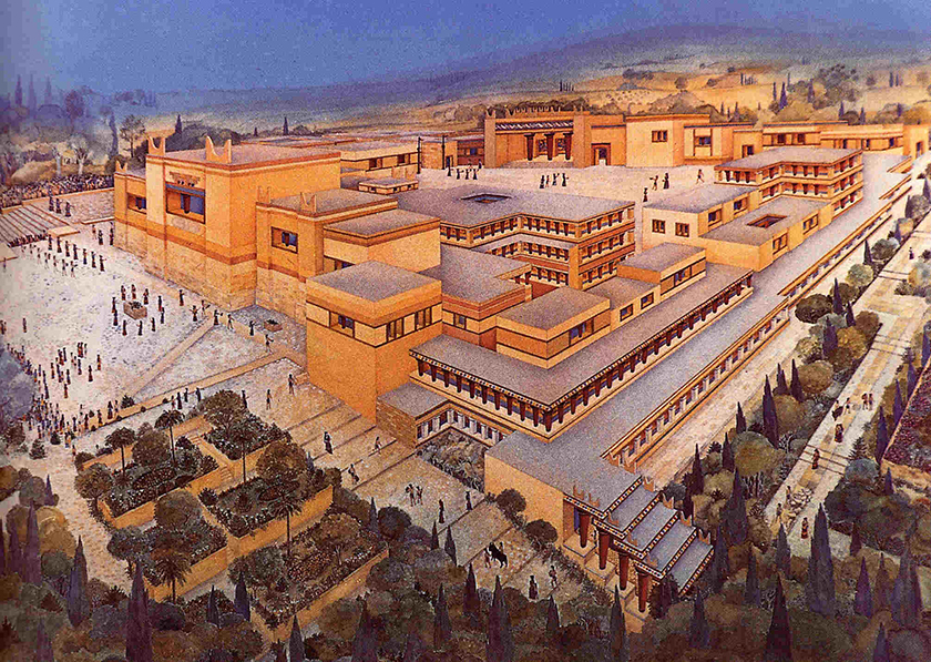 recreación del Palacio de Cnosos