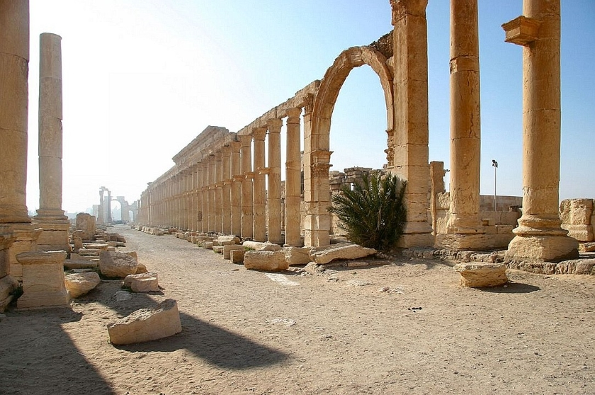 Avenida de las Mil Columnas en Palmira