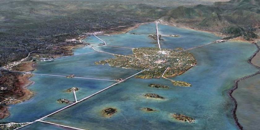 Tenochtitlan estaba en medio del lago